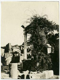 Fotografie Beim Gebäude der Vestalen auf dem Forum rom., Rom