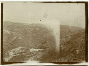 Fotografie elfauwar [el-fauwar], Blick n. NW über das untere w. fara in d. Richtung der Verbindung w. fauwar
