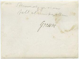 GDIp03526; Fotografie; Steinmetzzeichen tell el enntsellim [?], in Bestand von rund 5.000 nach Themen und Orten sortierten Kleinbildabzügen