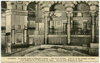 Postkarte Jerusalem. La Roche dans la Mosqueée d