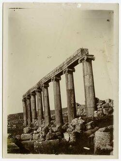 Fotografie Säulen geras [Gerasa]