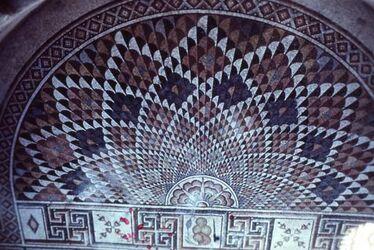 Dia Ch. el-Mefdschir (Hisham 734/43) Mosaik Fußboden)