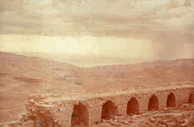 Dia [Al-Karak] Kerak Blick v. unt. Hof auf Totes Meer