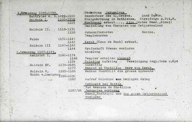GDId01050; Dia; Kreuzfahrer Tabelle, gelb-schwarzer Plastik-Diarahmen, Bestand von hölzernen Diakisten mit insgesamt rund 1.000 Kleinbilddias einer Palästina-Exkursion