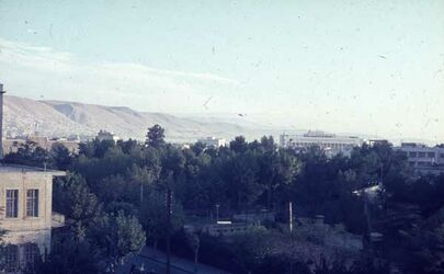 Dia Damaskus Blick aus Kasim-Hotel