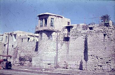 Dia Damaskus Stadtmauer