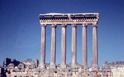 Dia Baalbek Die Säulen des Jupitertempels von […?]