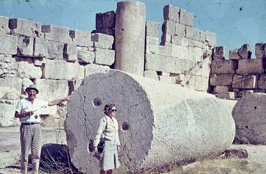 Dia Baalbek südl. Außenmauern d. Jup. T.