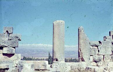 Dia Baalbek Blick auf Libanon [nach] N