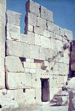 Dia Baalbek Moschee S.-Wand
