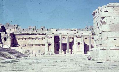 Dia Baalbek v. kl. Altar l. Tempelsäulen [nach] W