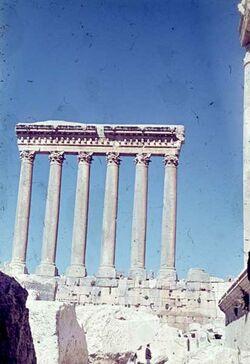 Dia Baalbek 6 Säulen von S.