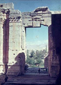 Dia Baalbek Bacchus-Tp. Inneres