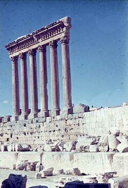 Dia Baalbek 6 Säulen