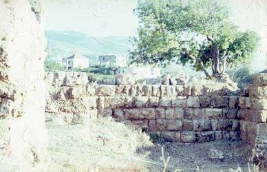 Dia Byblos Mauern s. ö. Reschef-Tempel