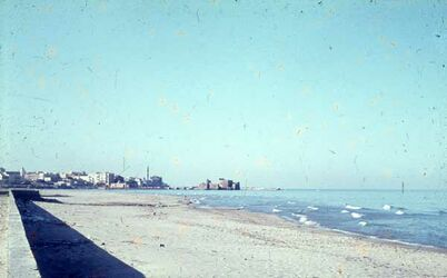 Dia Fahrt Beirut-Tyrus Blick auf Sidon
