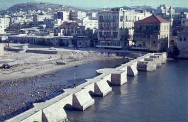 Dia Sidon Brücke zum Schloß am Meer