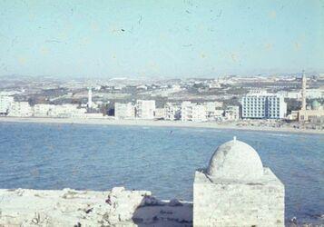 Dia Sidon Schl. a. Meer [Blick zu] Stadt (S. S. W.)