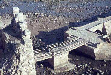 Dia Sidon Schl. a. Meer Zugbrücke v. oben