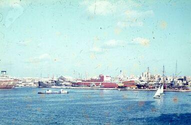 Dia Alexandria W-Hafen [Blick nach] NW zu N