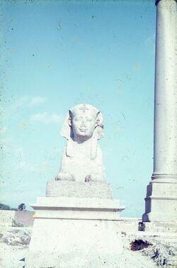 Dia Alexandria Sphinx + Pomp.-Säule