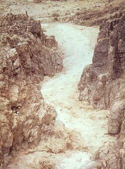 Dia [Masada, es-sebbe] Wadi voll Wasser