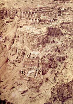 Dia [Masada, es-sebbe] 3 Terrassen (Luftaufn)