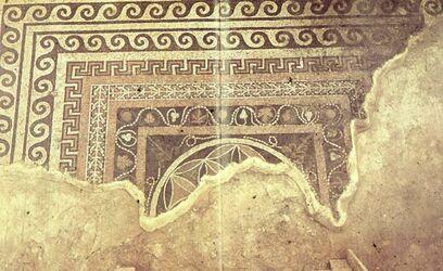 Dia [Masada, es-sebbe] Gr. Mosaik im W.-Palast