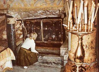 Dia [aus dem Buch: Sven Gillsäter u. a., Helgas Reise ins Heilige Land, 1965] Geburtsgrotte [Bethlehem]