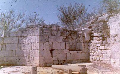 Dia Samaria [sebastie] Kirche d. Auffdg. [?] d. Hpt. J. d. Tf.