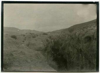 Fotografie w. ehsa [wadi el-ehsa], Wasserrinne