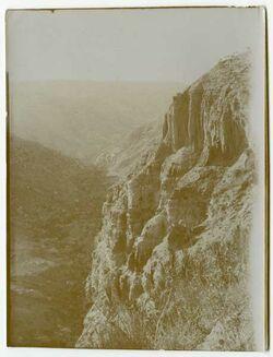 Fotografie Sandsteinfelsen unterhalb ettafile [et-tafile]