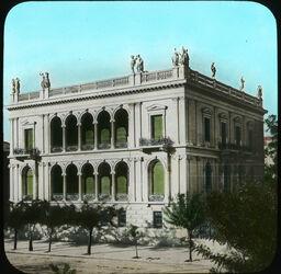 Glasplattendia Schliemanns Haus [Athen]