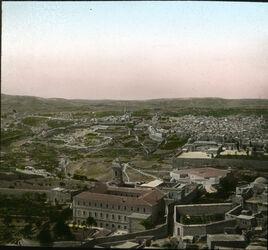 Glasplattendia Blick v. Oelberg auf d. südliche Jerusalem