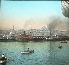 Glasplattendia Stambul mit Suleimanije-Moschee [Istanbul]