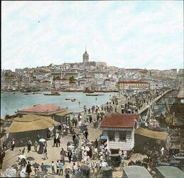 Glasplattendia Galata-Brücke [Istanbul]