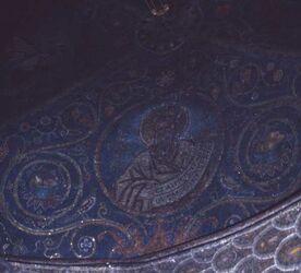 Dia Deckenmosaik der röm.-kathol. Kapelle in der Grabeskirche [Jerusalem, Israel-Exkursion]