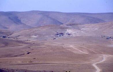 Dia Blick vom Tell Arad in die Wüste [Israel-Exkursion]