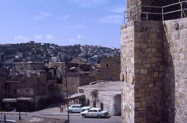 Dia Blick auf die Stadt Hebron [Israel-Exkursion]