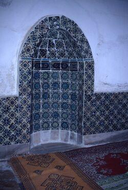 Dia Nische in der Frauenmoschee in der Haram el-Khalil [Hebron, Israel-Exkursion]