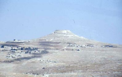 Dia Blick auf das Herodeion [Herodium, Israel-Exkursion]