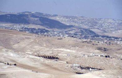 Dia Blick vom Herodeion nach [Herodium, Israel-Exkursion]