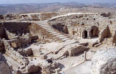 Dia Ausgrabungen auf dem Herodeion [Herodium, Israel-Exkursion]