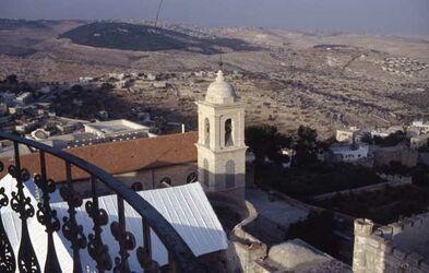 Dia Blick vom Turm der Geburtskirche [Bethlehem, Israel-Exkursion]