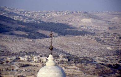 Dia Blick vom Turm der Gebutskirche in das Land [Bethlehem, Israel-Exkursion]