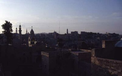 Dia Blick auf Bethlehem vom Turm der Geburtskirche [Israel-Exkursion]