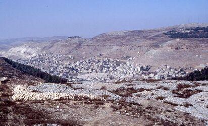 Dia Blick vom Garizim auf Nablus [Israel-Exkursion]