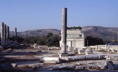 Dia Samaria, römishes Forum mit Basilika [Sebastie, Israel-Exkursion]