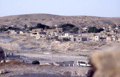 "Dia ""palästinänsisches [sic] """"Flüchtlingslager"""" neben dem Tell Jericho [Israel-Exkursion]"""