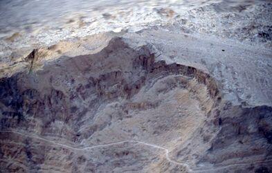 Dia Blick in das Wadi el-Kelt von der Höhenstraß nach Jericho [Wadi Kelt, Israel-Exkursion]